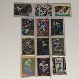 12 Barry Sanders football cards Detroit Lions OSU